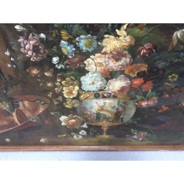 Decorative Italian Still Life Floral Painting B For Sale In San Antonio - Image 6 of 11