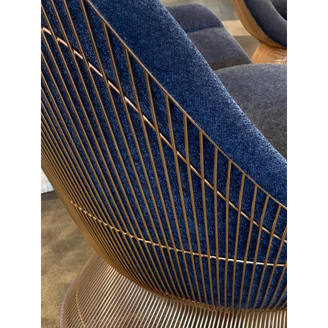 3 Warren Platner for Knoll Easy Chairs 18-Karat Gold-Plated For Sale - Image 9 of 13