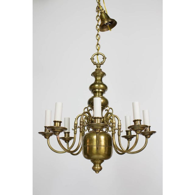 Early 20th Century Dutch Style Eight Arm Chandelier For Sale - Image 10 of 10