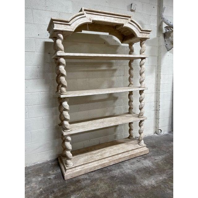 Belgian Bleached Oak Barley Twist Bookcase Shelf For Sale - Image 13 of 13