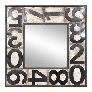 American Folk Art Framed Mirror For Sale