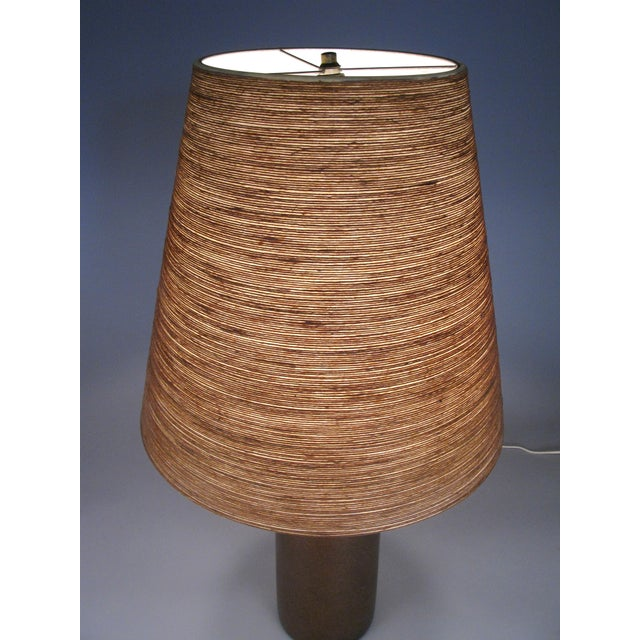 1960s Large 1960's Danish Ceramic Lamp by Bostlund For Sale - Image 5 of 6