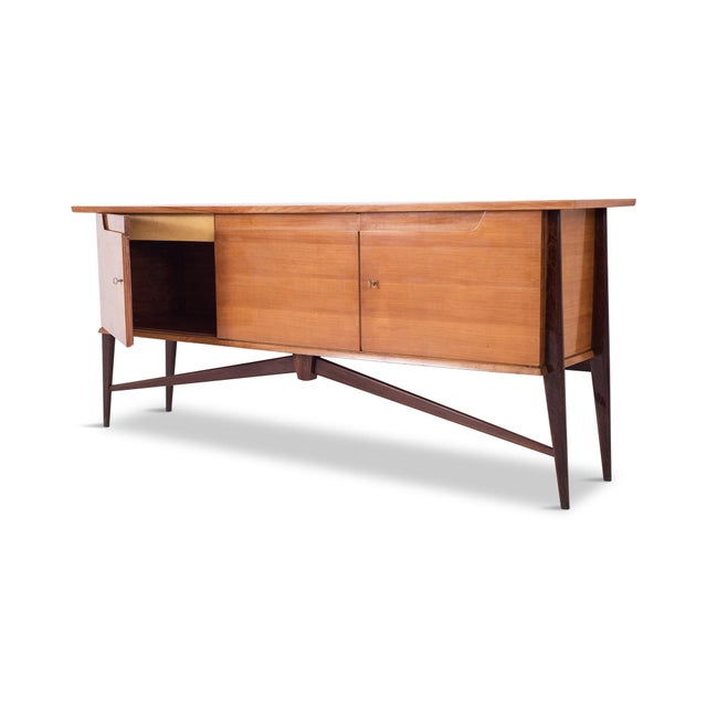 1950s De Coene Mid-Century Modern Two Tone Sideboard For Sale - Image 5 of 10