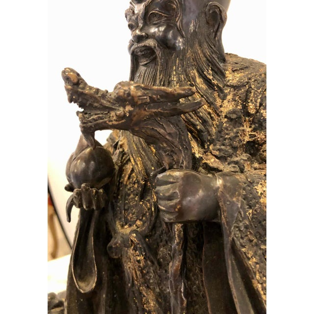 18th-19th Century Figure One of the Three Gods of Good Fortune For Sale In New York - Image 6 of 13