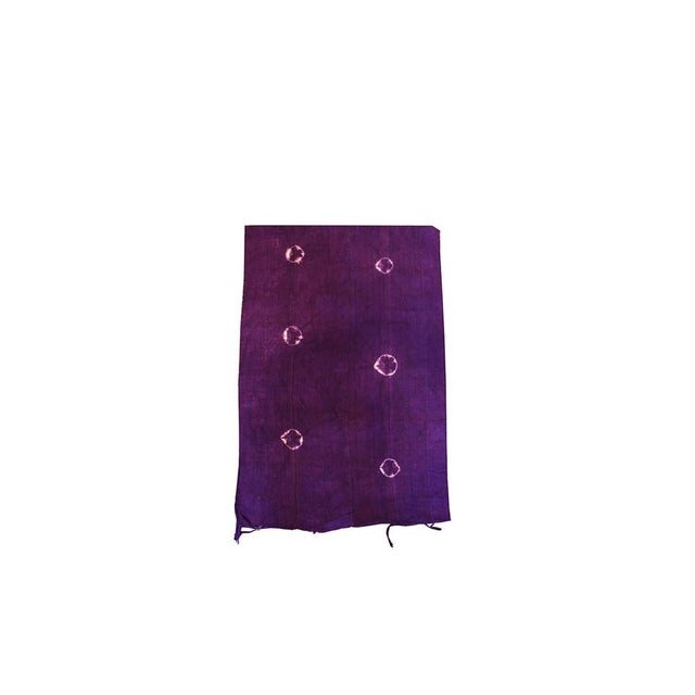 Boho Chic Violet Purple Mud Cloth Textile For Sale - Image 3 of 4