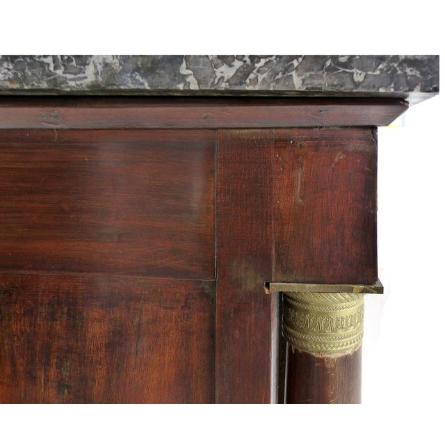 Mid 19th Century 19th C. French Empire Drop-Front Secretary Desk For Sale - Image 5 of 11