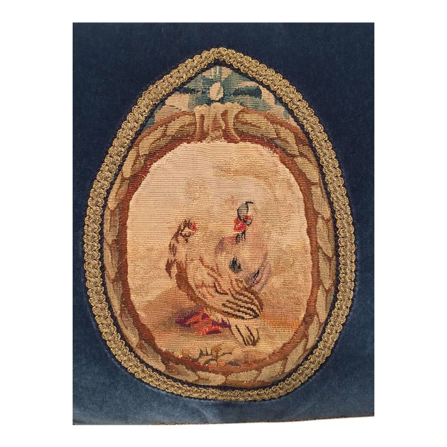 French 18th Century Aubusson Tapestry Pillow For Sale - Image 4 of 11