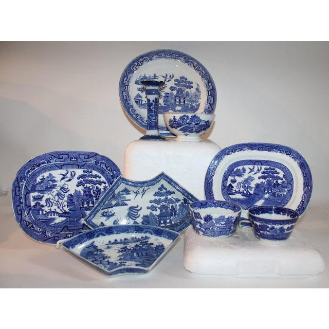 This collection of various blue willow dishes are all in good condition and are all English made pieces. Sold as a group....