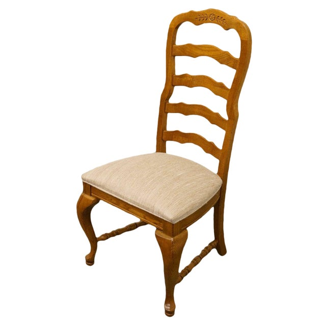 American Drew Saxony Collection Ladderback Dining Side Chair For Sale