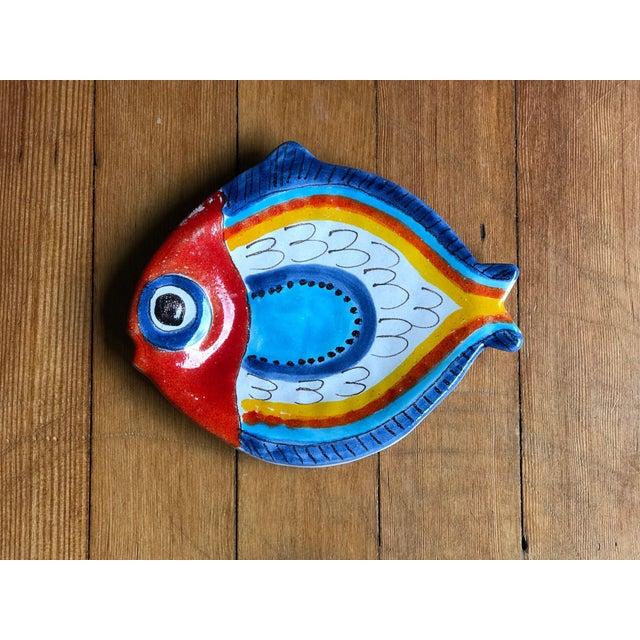 1980s Giovanni DeSimone Italian Fish Plate For Sale - Image 5 of 5