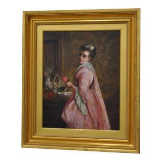 Elegant Oil Portrait by William Duffield C.1874