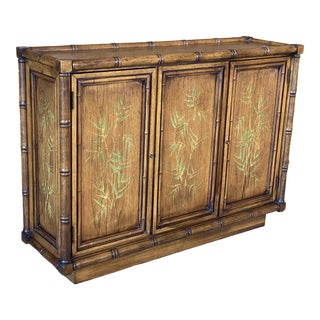 Vintage Brandt Faux Bamboo Console Sideboard For Sale