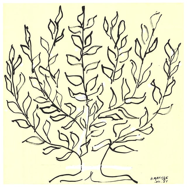 Henri Matisse, Le Platane-Le Buisson, 2017, Lithograph For Sale