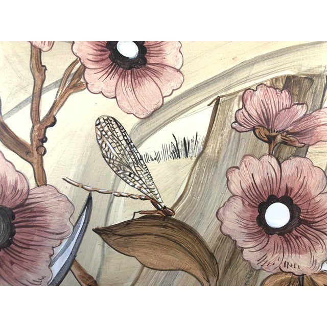 """2020s Chinoiserie Style Bird Painting, """"Take It to the Nest Level"""" For Sale - Image 5 of 9"""
