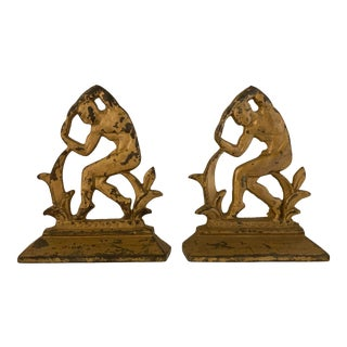 Art Deco Iron Bookends - a Pair For Sale