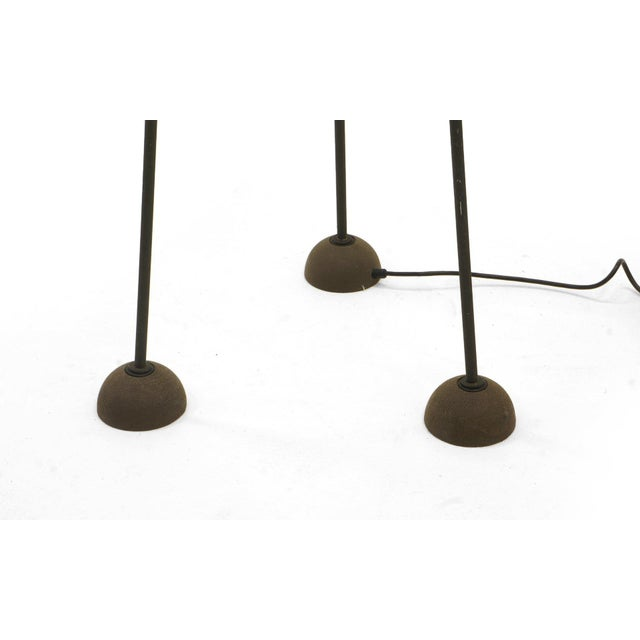 Modern Pair of Floor Lamps by Koch and Lowy, Black Tripod Stands With Halogen Fixtures For Sale - Image 3 of 7