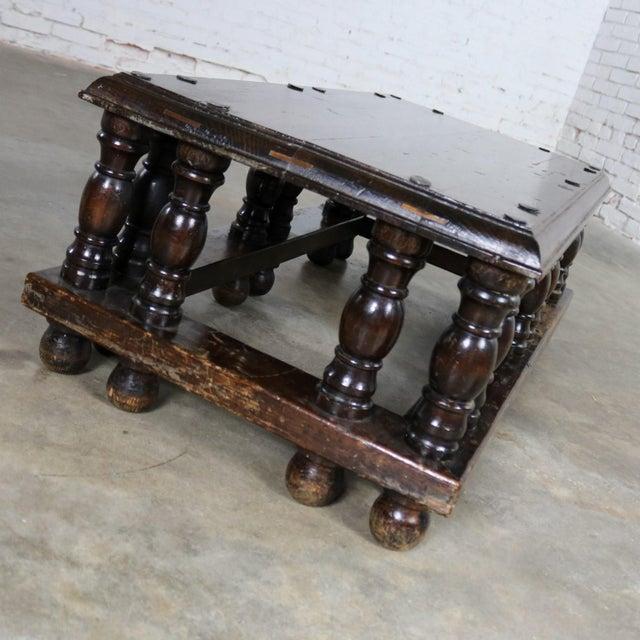 Rustic Spanish Revival Style Rectangular Coffee Table Artes De Mexico Internacionales Attribution For Sale - Image 3 of 13