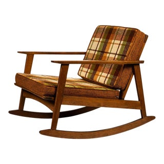 1960s Scandinavian Rocking Chair For Sale