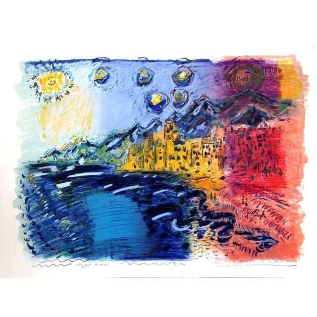 Impressionism Wayne Ensrud, Camogli Italy, Lithograph For Sale - Image 3 of 3
