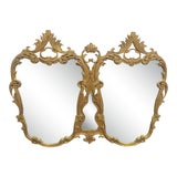 Image of Italian Rococo Carved Gold Gilt Overmantle Mirror For Sale