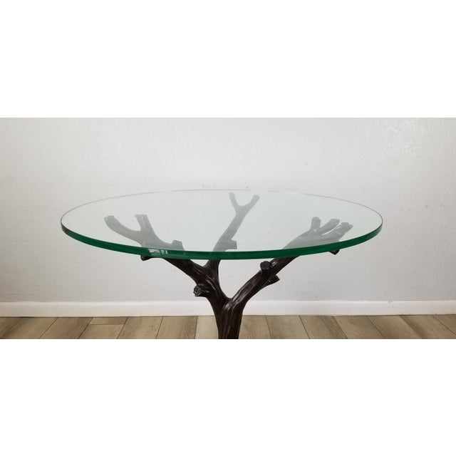 Vintage Sculptural Faux- Bois Bronze Dining Table . For Sale - Image 10 of 13
