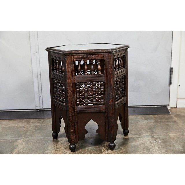 Traditional Indian Six Sided Tabouret For Sale - Image 3 of 5