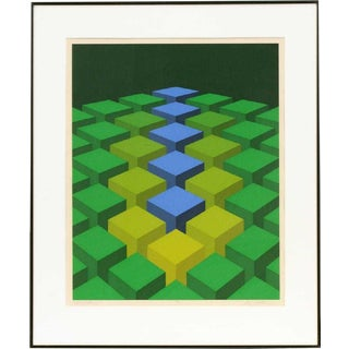"1970s ""Cube Field VIII"" Serigraph by Marko Spalatin For Sale"