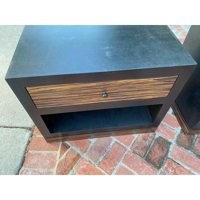 Wood 1990s Ldc Design Studio Side Tables-Zebra Wood For Sale - Image 7 of 8