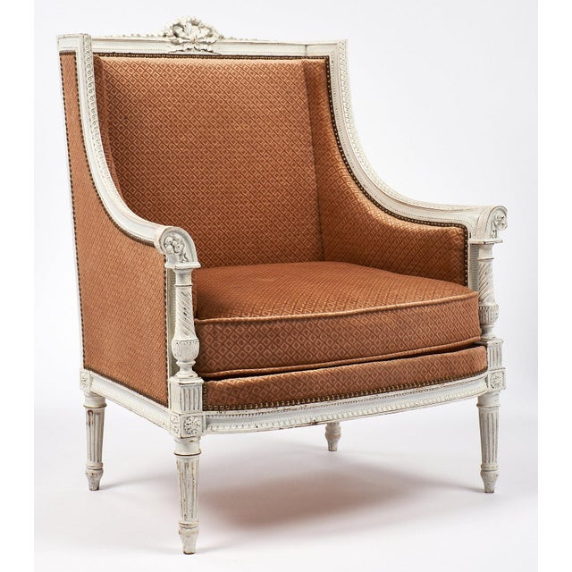 Antique French Louis XVI Style Bergère - Image 2 of 7