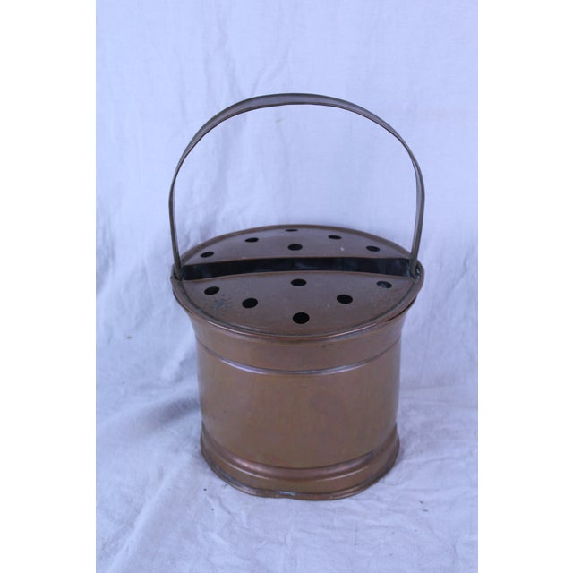 20th Century Belgian Copper Flower Pail For Sale - Image 4 of 5