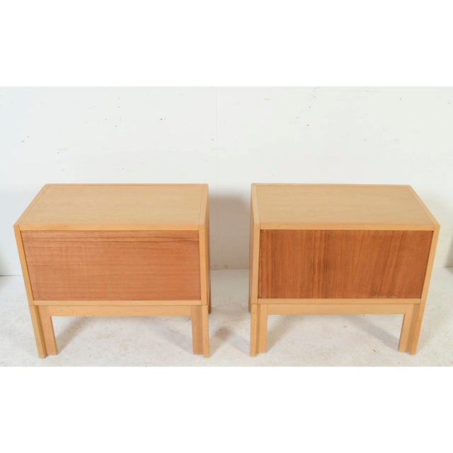 1960s Danish Modern HG Furniture Hansen Guldborg Oak Nightstands - a Pair For Sale - Image 4 of 9