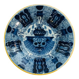 18th Century Delft Plate For Sale