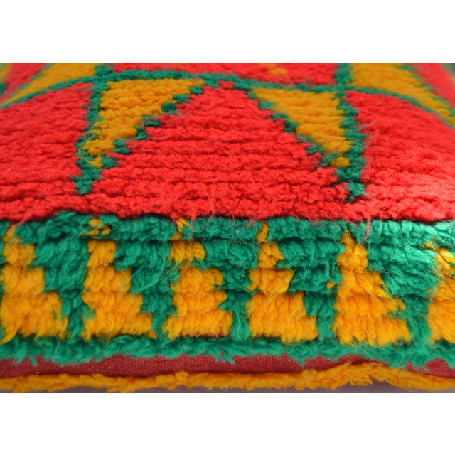 Moroccan Berber Star Pillow For Sale - Image 4 of 8