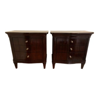 Stanley Furniture Avalon Heights Serpentine Nightstands - a Pair For Sale