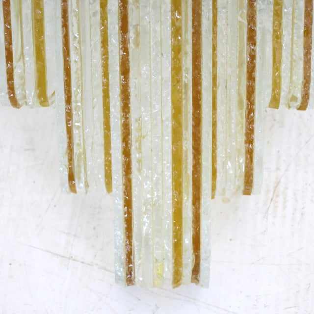 Poliarte Murano Glass Icicles Stacked Sconces by Poliarte - a Pair For Sale - Image 4 of 9