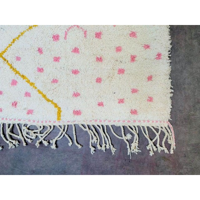 Textile Pink Moroccan Rug - 9′10″ × 13′3″ For Sale - Image 7 of 11