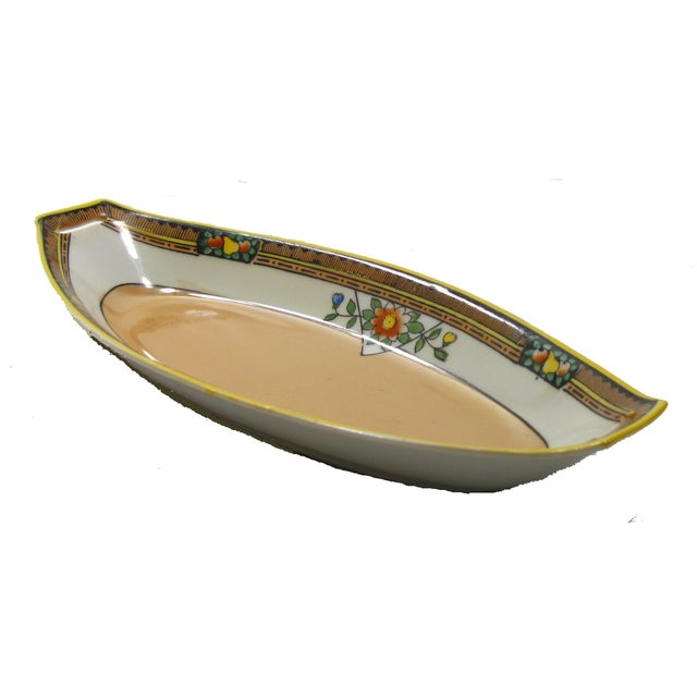 Jazzy Art Deco Lustreware bowl from the 1920's. Wonderful for displaying collections of small items such as guest soaps,...