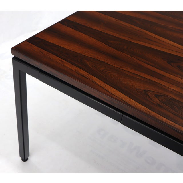 Dunbar Vivid Rosewood Grain Low Profile Mid Century Modern Desk Writing Table. For Sale - Image 11 of 13