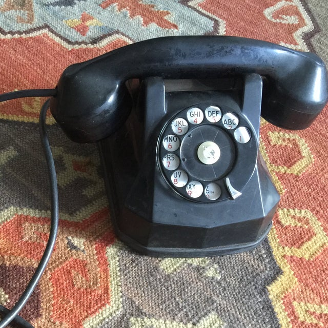 Vintage Rotary Dial Telephone Works! - Image 3 of 5