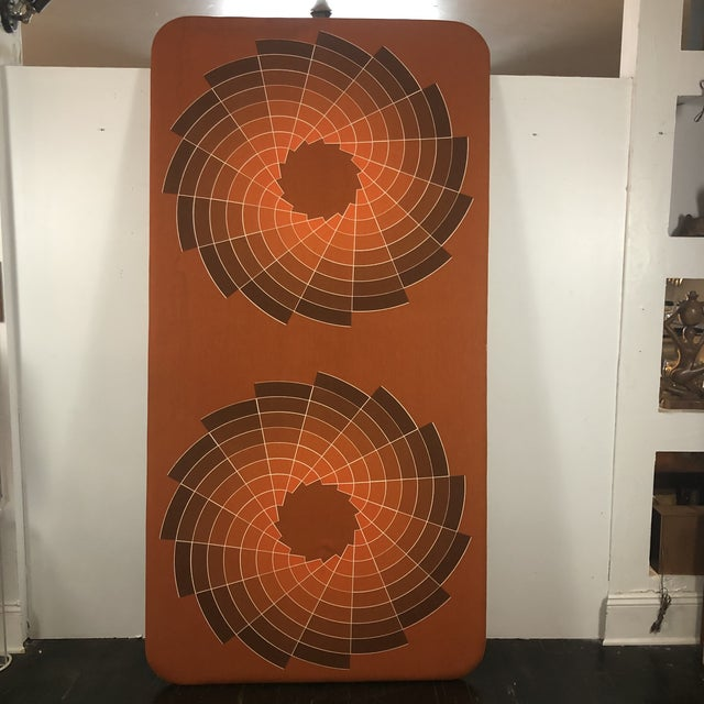 1960s Large Textile Optic Art Upholstered Panel For Sale In San Antonio - Image 6 of 11