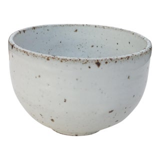 White Rustic Modern | Boho Chic Speckled Bowl | Ramen Noodle Bowl | Serving Bowl | Mixing Bowl | Decorative Bowl | VI For Sale