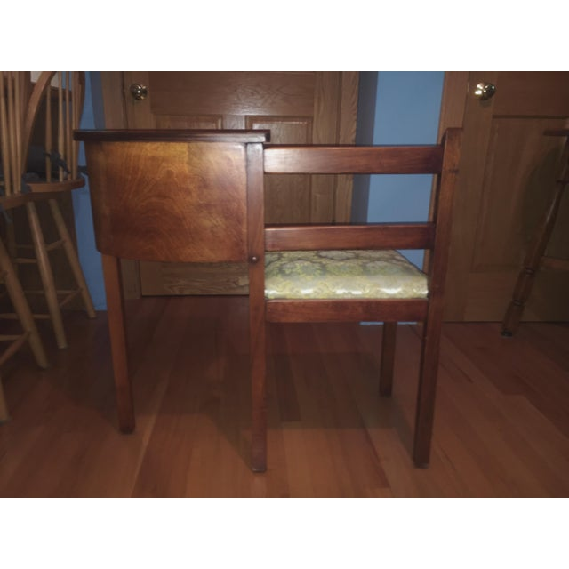 1930s 1930s Vintage Chair & Attached Desk For Sale - Image 5 of 6