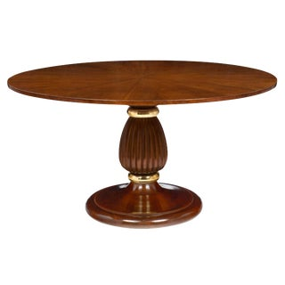 Italian Mid-Century Walnut Table For Sale