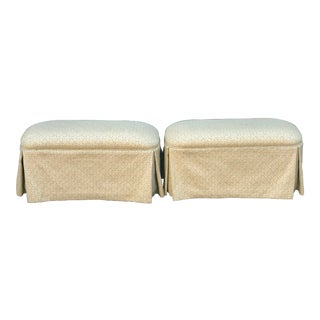 Pair of Modern Designer Upholstered Ottomans or Benches by Randy Esada Designs for Prospr For Sale