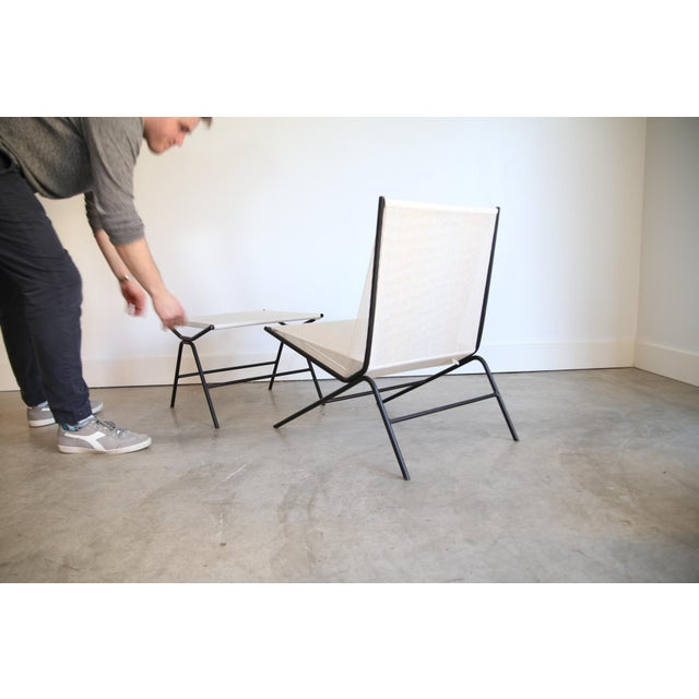 Metal Allan Gould String Chair & Ottoman For Sale - Image 7 of 11