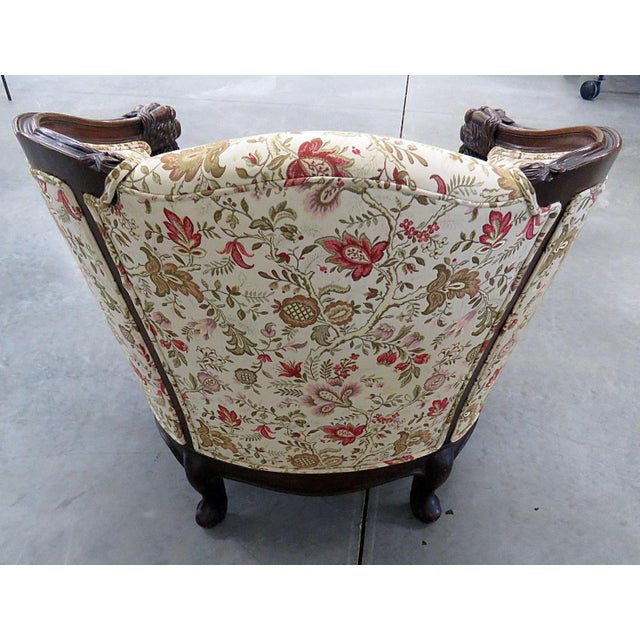 Carved Victorian Bergere For Sale - Image 9 of 11