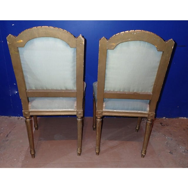 Mid 19th Century Mid 19th Century Louis XVI Petit Point Embroidered Chairs- A Pair For Sale - Image 5 of 11