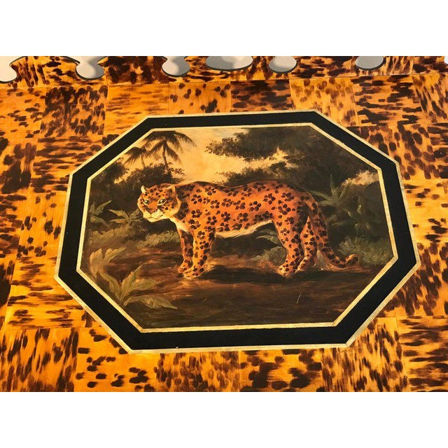 Regency Style Tortoiseshell & Jaguar Motif Coffee Table by William Skilling For Sale In West Palm - Image 6 of 11