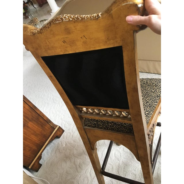 Maitland Smith Cheetah Print Bar Stool - Image 4 of 6