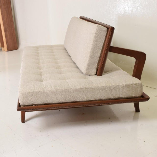 Mid-Century Modern Mexican Modernist Chaise Lounge Daybed by Charles Allen, Regil De Yucatian For Sale - Image 3 of 8